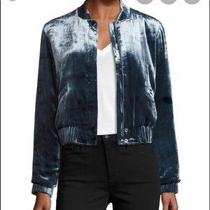 Joe's Collection velvet bomber jacket